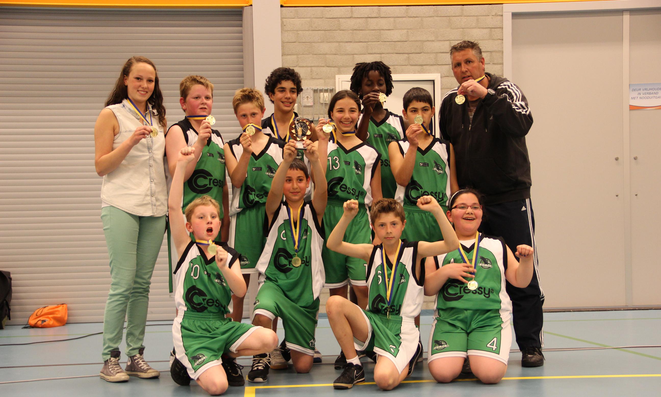 Under 12 MBV Green Eagles is kampioen geworden